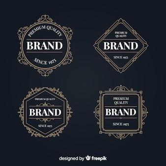 Vintage decoratieve logo's collectie