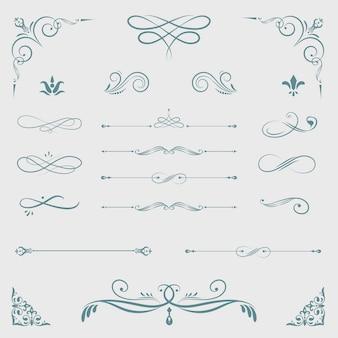 Vintage decoratieve ontwerpelementen