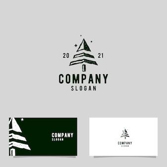 Vintage dennenbos logo