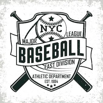 Vintage design, grange print stempel, honkbal typografie embleem, sportlogo creatief ontwerp