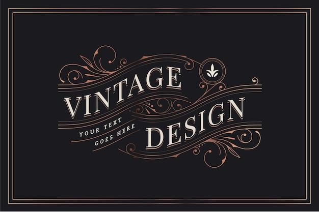 Vintage design met decoratieve versieringen