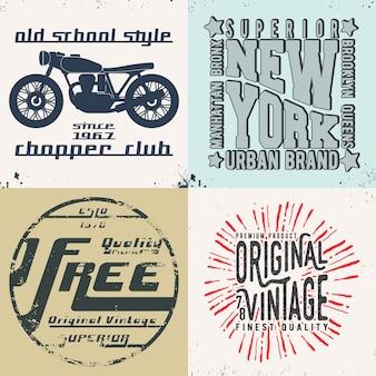 Vintage design print voor t-shirt stempel