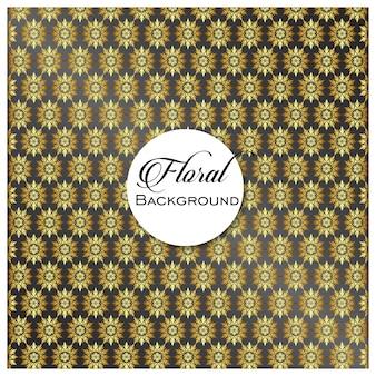 Vintage designelement in oosterse stijl. vector naadloos patroon met florale versiering. siersnede tracery. gouden sierlijke illustratie voor behang. traditioneel arabisch decor op lichte achtergrond.