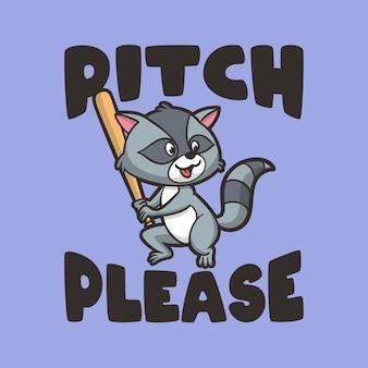 Vintage dierenslogan typografie toonhoogte alstublieft voor t-shirtontwerp