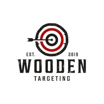 Vintage doel / dartbord-logo