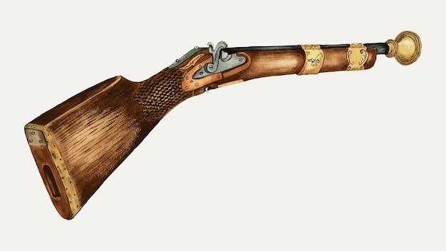Vintage donderbus pistool vectorillustratie, geremixt van het kunstwerk door jessie m. youngs