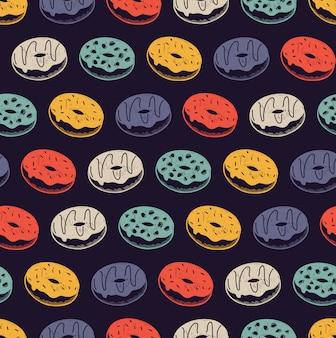 Vintage donut patroon