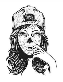 Vintage dood meisje concept