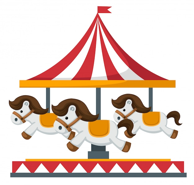 Vintage draaimolen carrousel