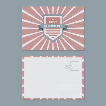 Vintage duotoon herdenkingsdag algemeen briefkaart