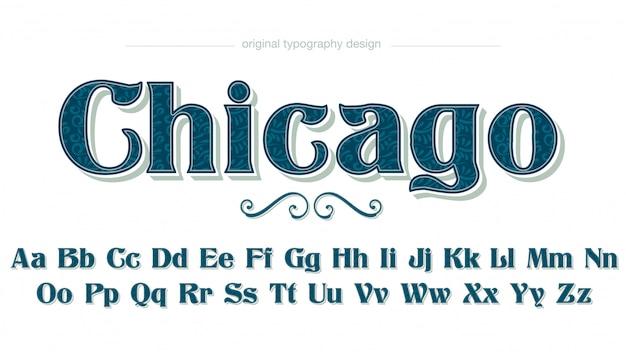 Vintage elegante bloemmotief donkergroene decoratieve typografie