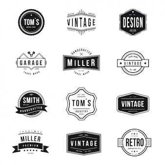 Vintage emblemeninzameling