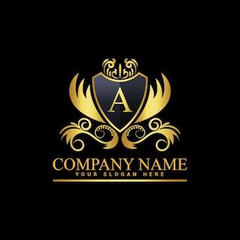Vintage en luxe logo sjabloon premium vector, royalty