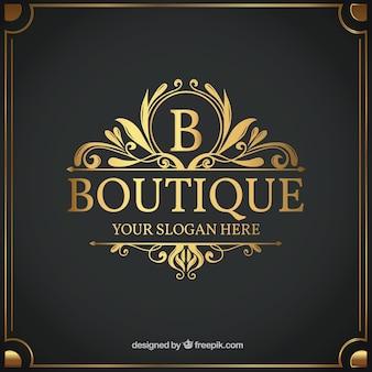 Vintage en luxe logo sjabloon