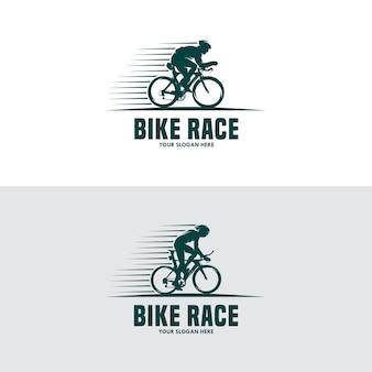 Vintage en modern fietslogo en labels