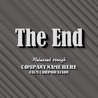 Vintage end credits achtergrond