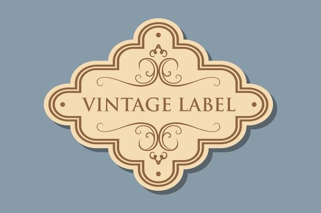 Vintage etiket