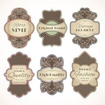 Vintage etiketten set