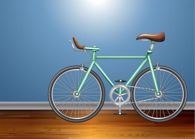 Vintage fiets in de kamer