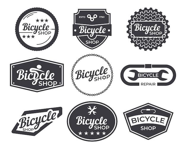 Vintage fiets logo embleem pack