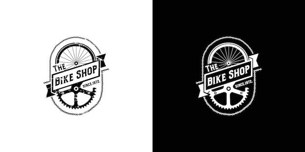 Vintage fietsenwinkel logo