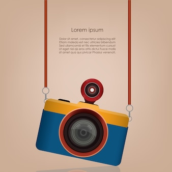 Vintage fish eye camera sjabloonontwerp