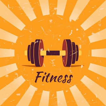 Vintage fitness poster achtergrond