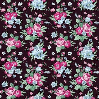 Vintage floral achtergrond naadloze patroon