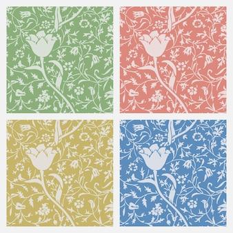 Vintage floral ornament naadloze patroon achtergrond instellen