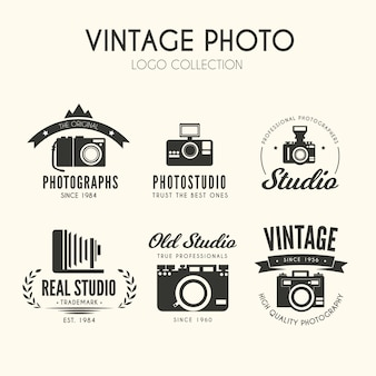 Vintage foto logo collectie