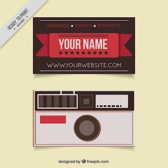 Vintage fotograaf adreskaartje