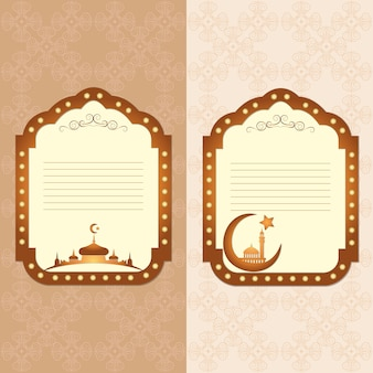 Vintage frame in arabische stijl