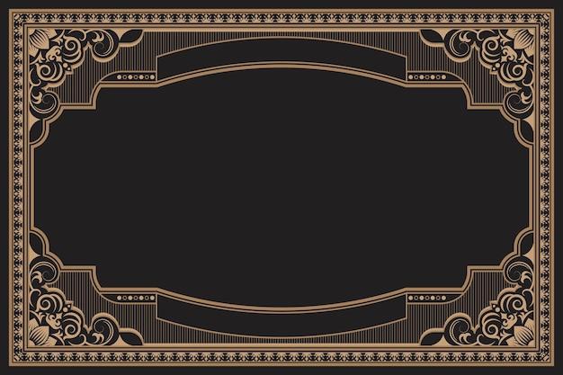 Vintage frame met ornament
