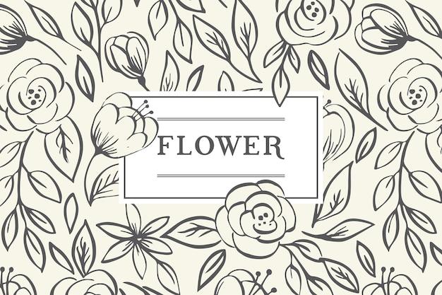 Vintage frame van rozen. vector illustratie.