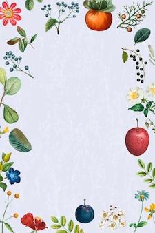 Vintage frame vector zomer bloemmotief