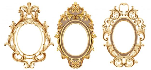 Vintage frames instellen aquarel