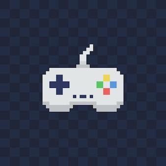 Vintage gamepad op transparante achtergrond. pixel art stijl joystick illustratie.