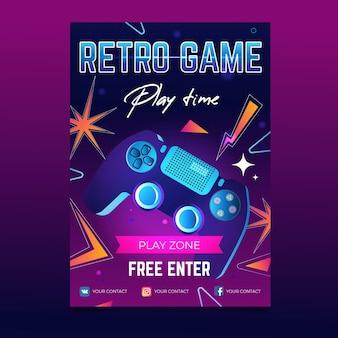 Vintage gaming poster sjabloon
