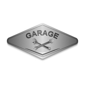 Vintage garage retro labelontwerp
