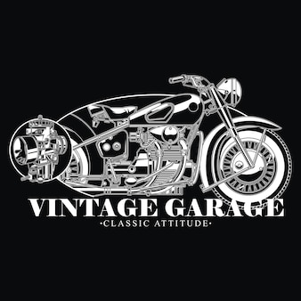 Vintage garageontwerp voor klassieke houding-bikers