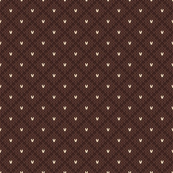 Vintage gebreide naadloze patroon in fair isle-stijl.