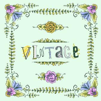 Vintage gekleurde frame