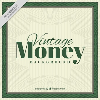 Vintage geld achtergrond met golvende lijnen