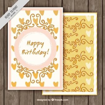 Vintage gelukkige verjaardagskaart