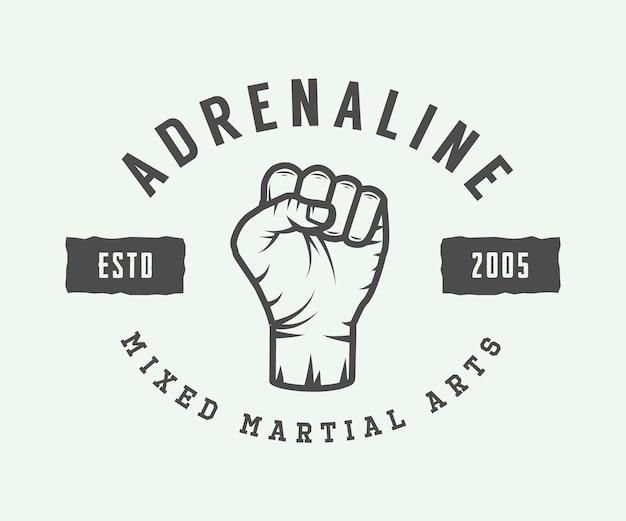 Vintage gemengd vechtsporten-logo