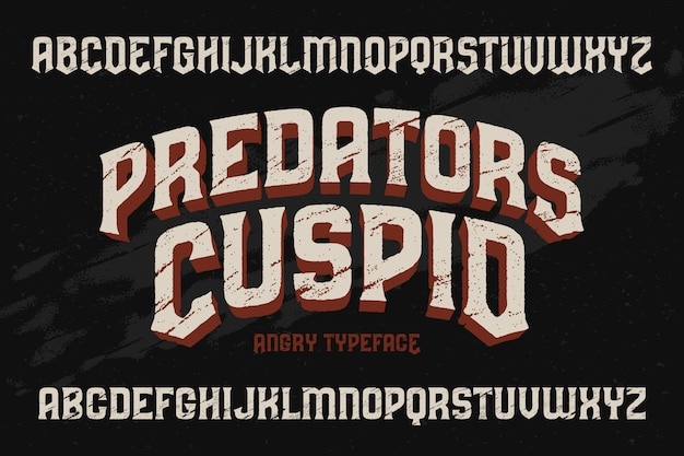 Vintage getextureerde lettertype