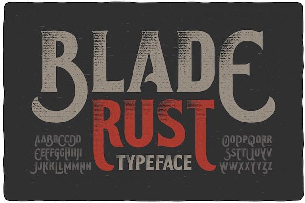 Vintage getextureerde lettertypeset