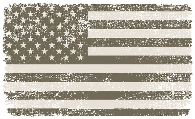 Vintage getextureerde usa vlag