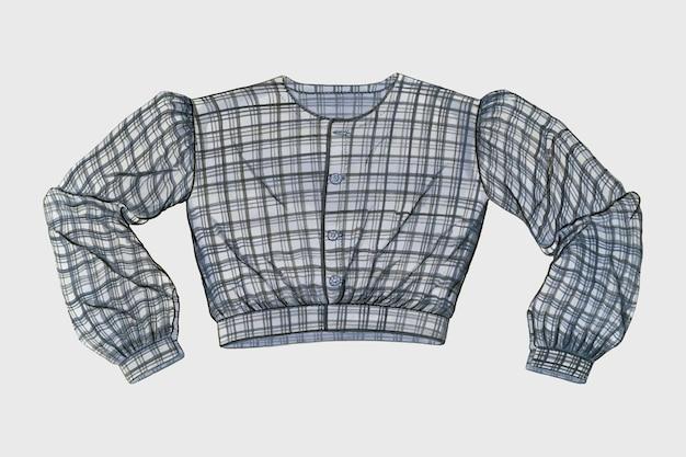 Vintage gingham shirt vector, geremixt van artwork door inez montgomery