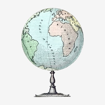 Vintage globe staan illustratie